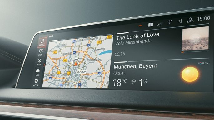 BMW 7er Limousine: Microsoft Office 365 auf dem Control Display